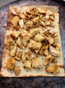 Flat Bread Cooked Chicken