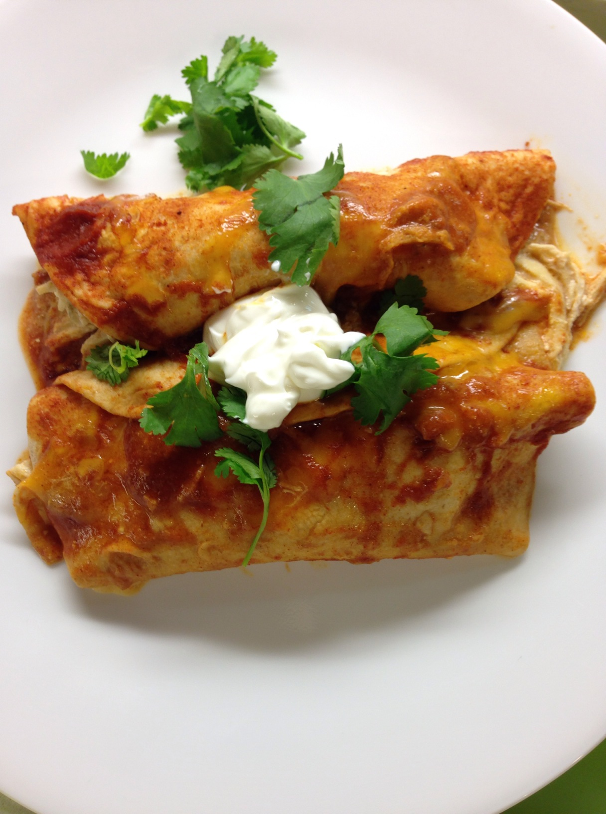 Easy Chicken Enchiladas - Mrs. Criddles Kitchen
