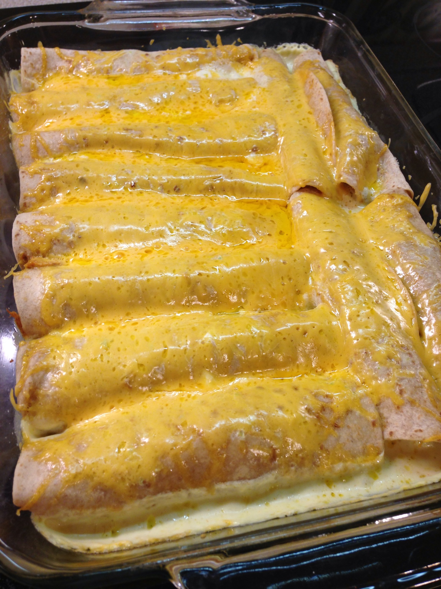 Sour Cream Chicken Enchiladas - Mrs. Criddles Kitchen