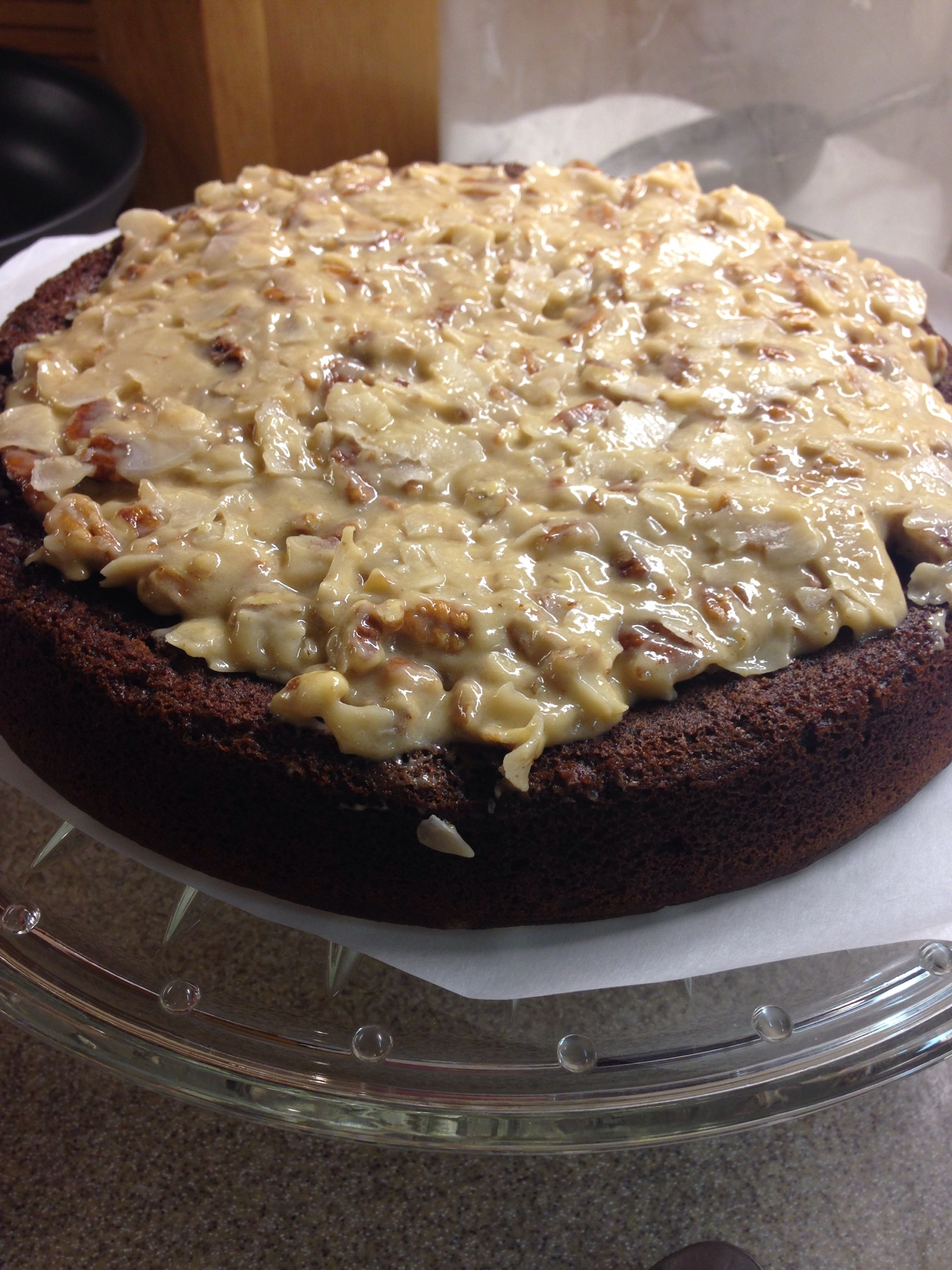 German Chocolate Cake lowcarb sugarfree
