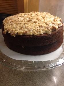 German Chocolate Cake (low-carb, sugar-free)